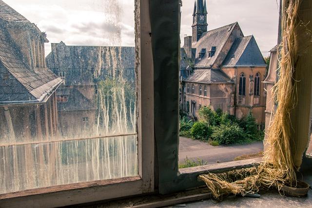 Window, Outlook, Broken Disc, Church, Architecture
