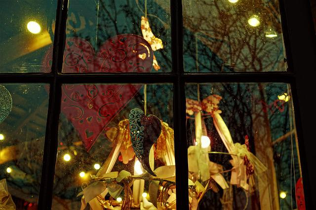 Window Display, Valentines Day, Night, Colorful