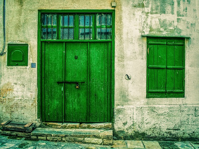 Door, Doorway, Entrance, Window, Old, Aged, Weathered