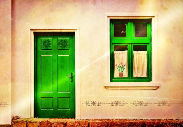 House Facade, Front Door, Door, Home, Window, Input
