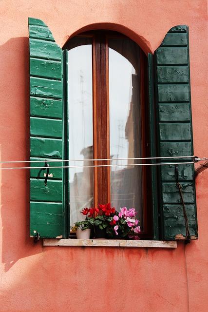 Window, Shutters, Open, Shutter, Wood
