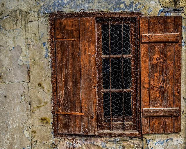 Wooden, Window, Old, Wall, Cracks, Decay, Weathered