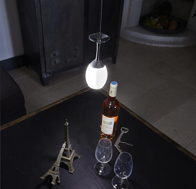Wine, Light, Wine Glasses, Friendliness, Lamp, Bottle
