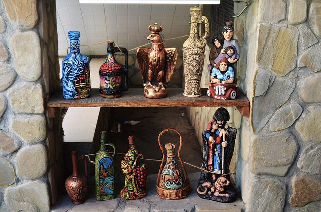 Souvenirs, Wine, Bottles, People's, Abkhazia