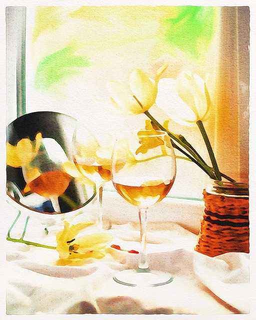 Watercolor Painting, Wine, Still Life, Drink, Party