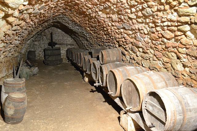 Cave, Barrel, Wine Press, Wine, France, Castle