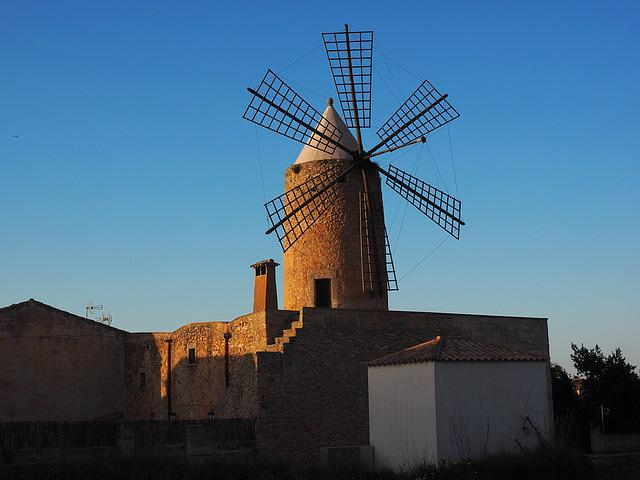 Windmill, Mallorca, Mill, Wind Energy, Wing, Wind Power