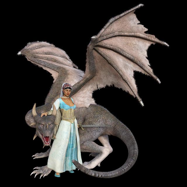 Dragon, Woman, Amazone, Wing, Mythology