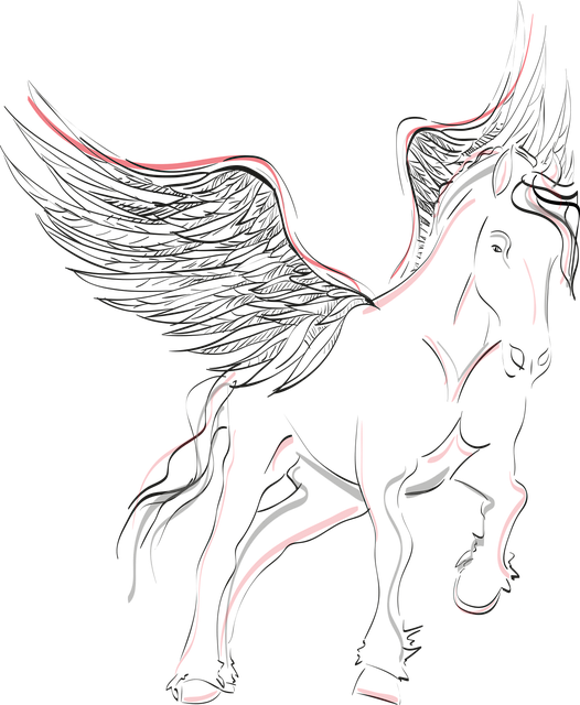 Pegasus, Horse, Wing, Winged Horse, Mystical, Black