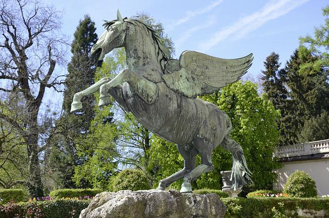 Salzburg, Pegasus, Horse, Fluegelross, Winged Horse