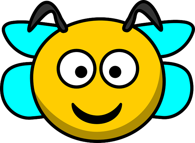 Bee, Head, Smile, Wings