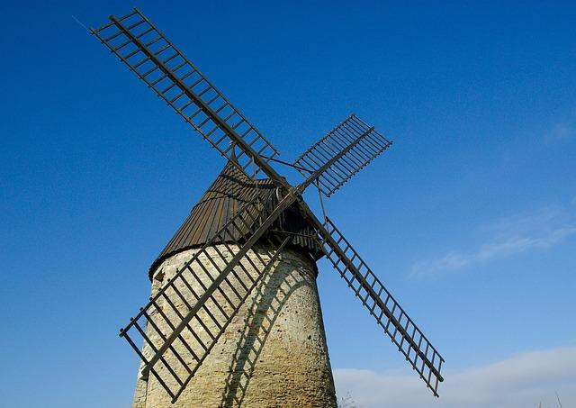 Windmill, France, Castelnaudary, Wings