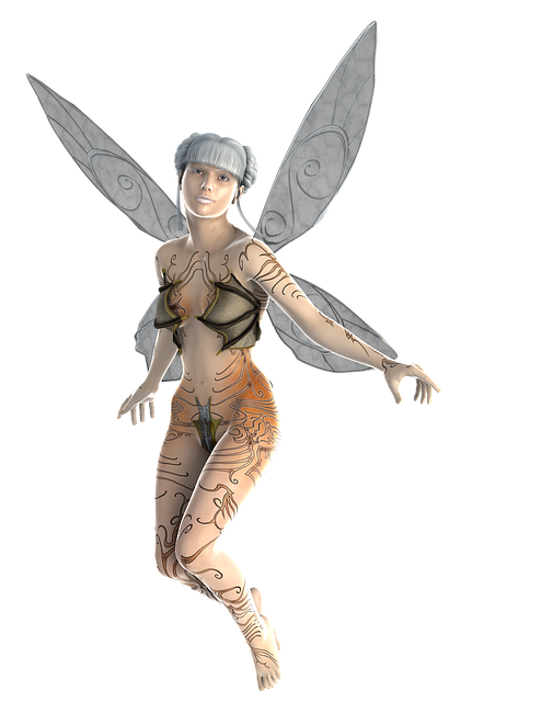 Transparent Background, Fae, Fairy, Wings, Woman, Elf