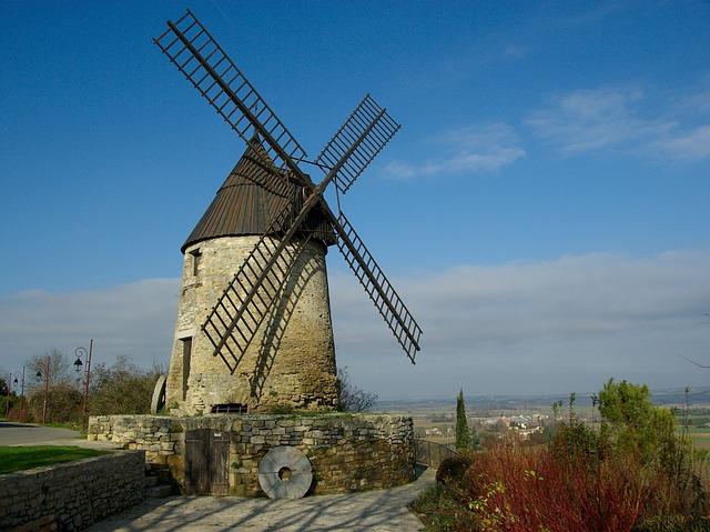 Windmill, Castelnaudary, France, Wings