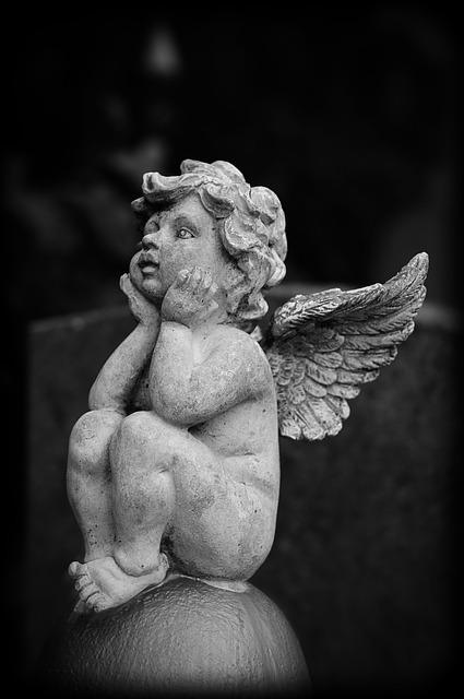 Angel, Wings, Grave, Figurine, Cemetery, Stone Statue