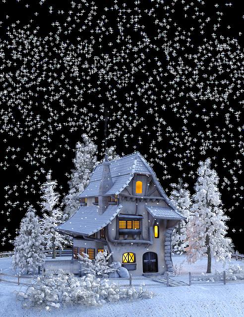 Christmas, Winter, Snow, Snowflakes, Home, Advent