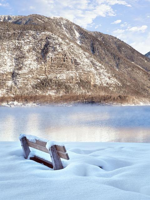 Bank, Winter, Lake, Hallstatt, Wintry, Winter Magic