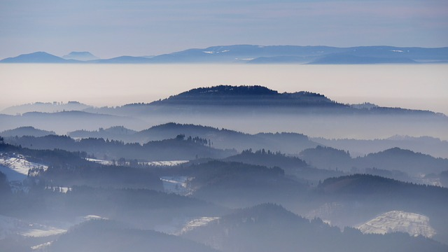 Landscape, Winter, Sea Of Fog, Black Forest