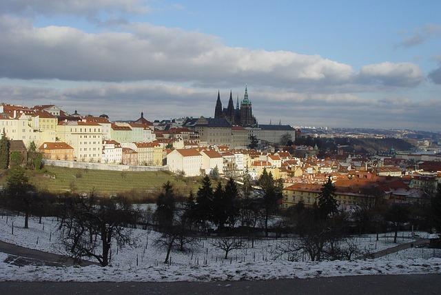 Castle, Architecture, Prague, Winter