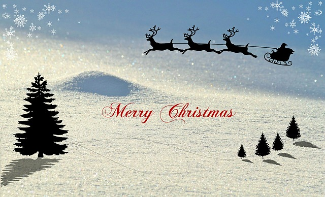 Christmas, Christmas Card, Winter, Snow Landscape
