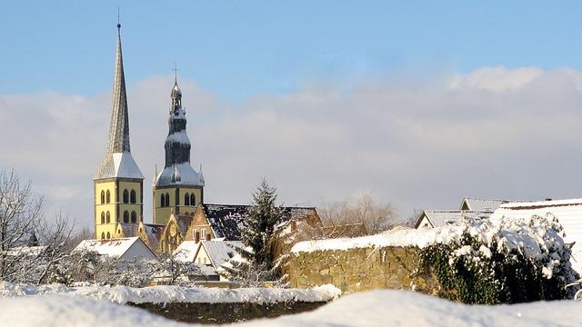 Lemgo, Church, Winter