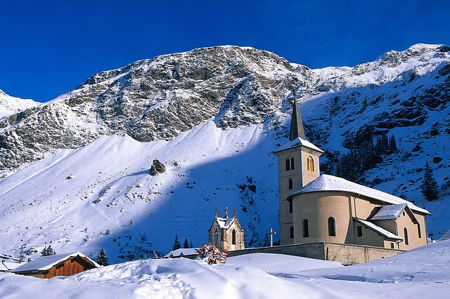 Snow, Winter, Mountain, Cold, Mountain Peak, Church