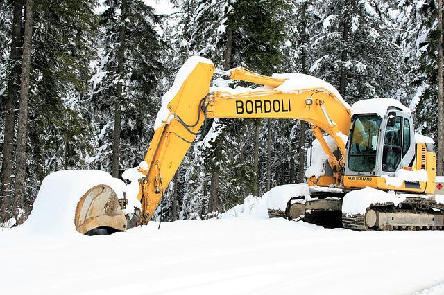 Winter Dream, Snow, Mountains, The Alps, Excavator