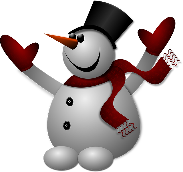 Snowman, Winter, Cold, Hat, Gloves, Scarf, Frozen