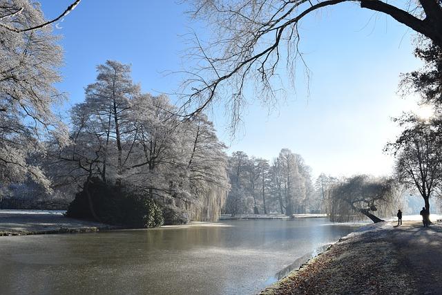 Delmenhorst, Graft, Winter, Wintry, Frost, Hoarfrost