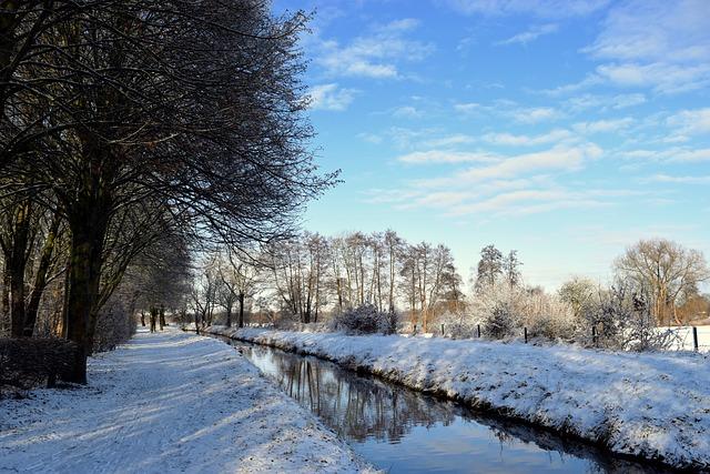 Winter, Walk, River, Snow, Wintry, Winter Hike