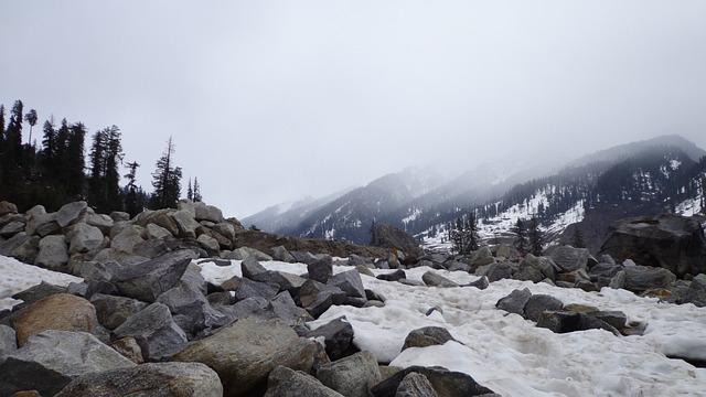 Himalayas, Mountains, Winter, Fog, Landscape, Manali