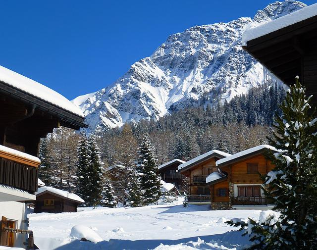Chalet, Snow, Mountain, Winter, Holiday