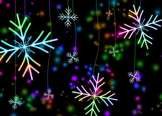 Snowflakes, Snow, Winter, Christmas, Holiday, December