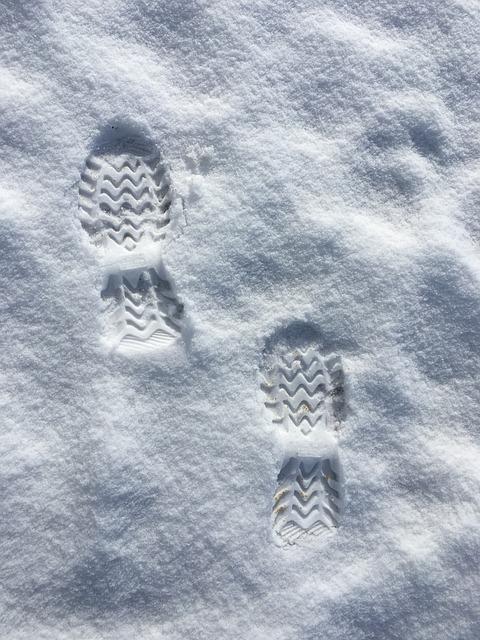 Snow, Footprints, Winter, Nature, Season, Weather, Ice