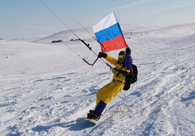 Kite, Kitesurfing, Winter, Flag Of Russia, Sports