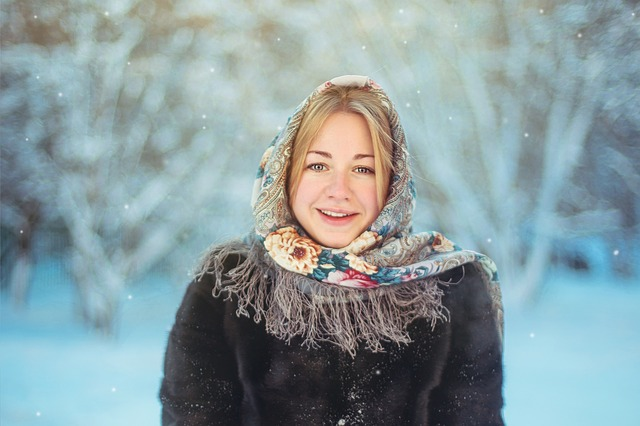 Winter, Coldly, Snow, Leann, Scarf, Russian Woman