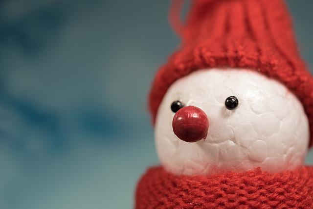 Snow Man, Winter, Cap, Cold, Mood, Postcard