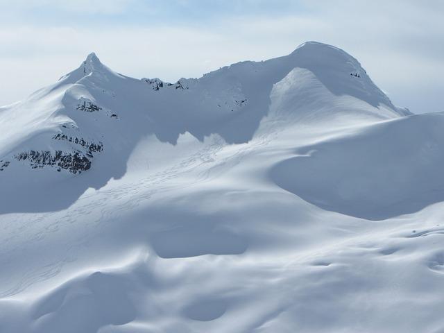 Glacier Canada, Mountains, Winter, Yukon Territory