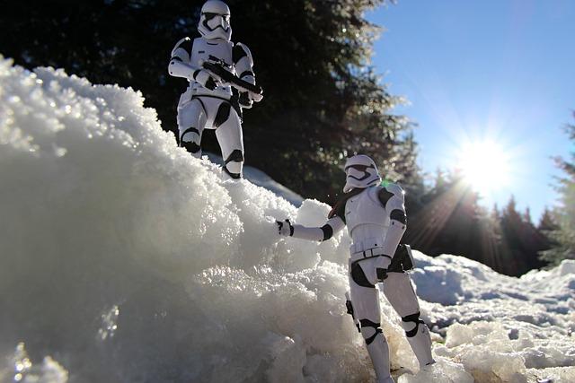 Star Wars, Fi Gures, Snow, Trees, Winter, Nature