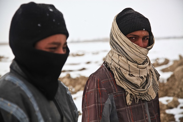 Afghani, People, Man, Cold, Winter, War, Icy