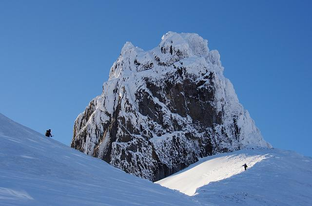 Rock, Mountains, Top, Climbing, Nature, Snow, Winter