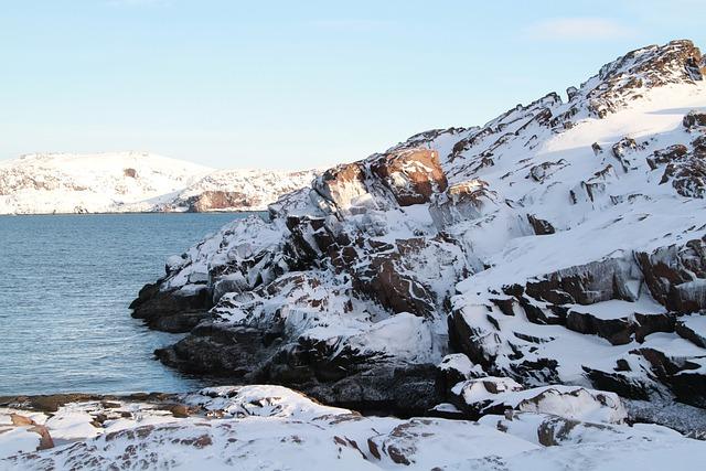 Russia, Murmansk, Polar Region, Winter, Nord, Rocks