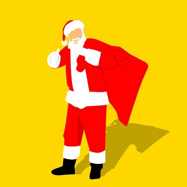 Santa, Christmas, Winter, Man, Sketch, Celebration