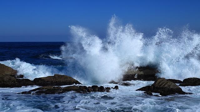 Waves, Sea, Comber, Jumunjin, Blue Sea, Winter Sea, Fry