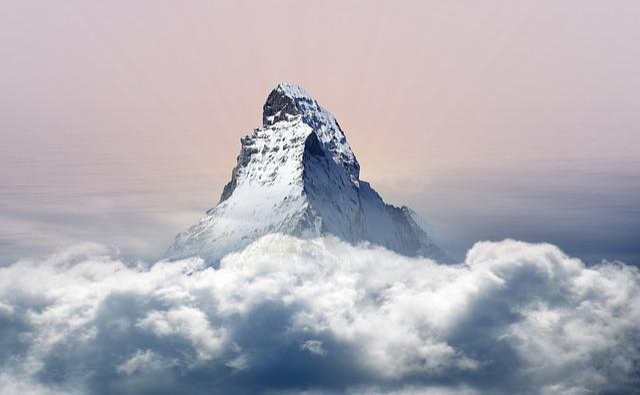 Sky, Nature, Panorama, Mountain, Snow, Winter, Alpine