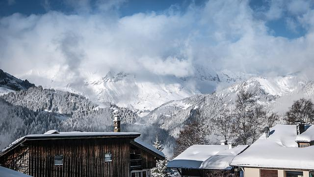 Snow, Mountain, Winter, Chalet