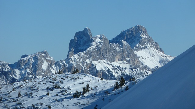 Winter, Snow, Touring Skis, Tannheimertal, Gimpel