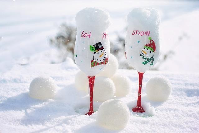 Winter, Snow, Goblets, Snowballs, Cold, Season