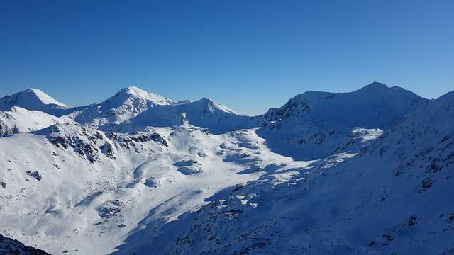 Snow, Mountain, Panoramic, Winter, Mountain Peak