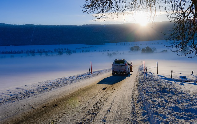 Road, Snow, Snow Thrower, Cold, Winter, Landscape